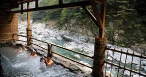 Relaxing Japanese-style; hop into an Onsen